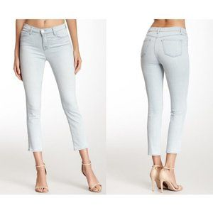 J Brand Alessandra High Rise Cropped Jeans